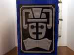 Cabinet Rear Cyberman Logo and Coin Bank
