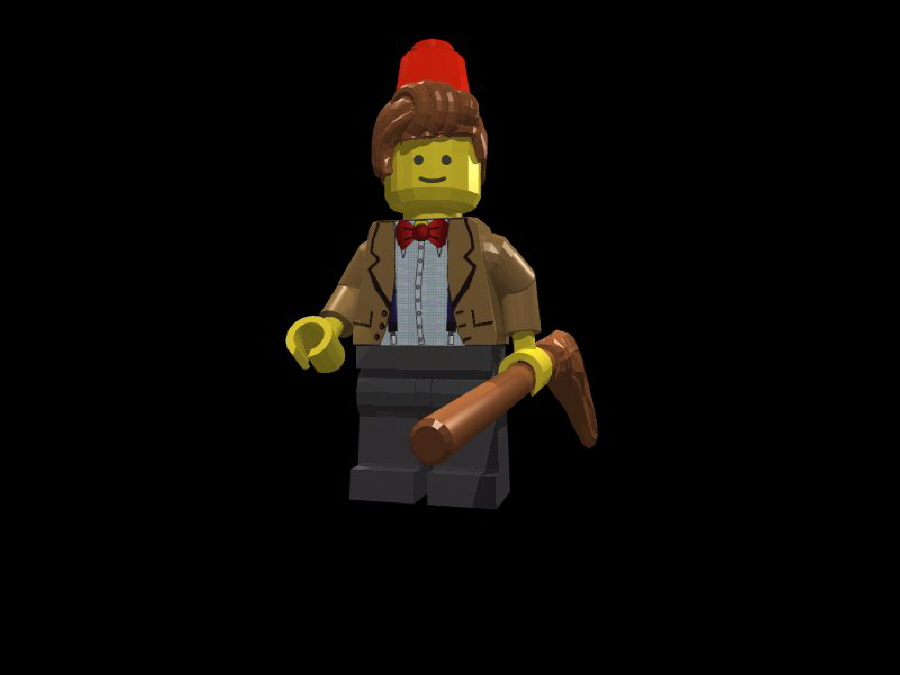 Eleventh Doctor With Fez & Mop