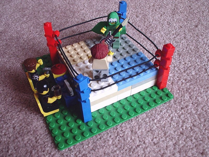 The Green Bastard Wrestling Ring Set