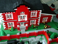 The front of Wayne Manor.